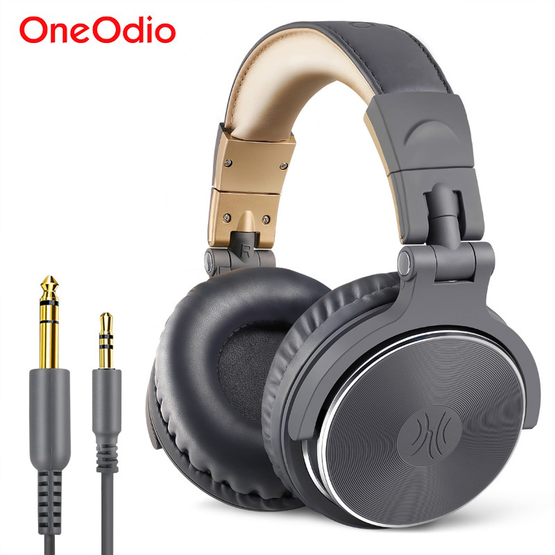 Oneodio Wired Monitoring HIFI Headphone Stereo Bass Studio Mixing Headset Adapter-Free Closed Back DJ Headphones For Phone PC image