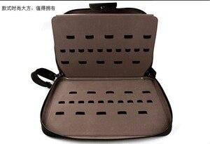 Image 2 - Peut mettre 60 pièces ciseaux Portable similicuir cheveux ciseaux sac insérer style ciseaux Case sac de rangement clins outils sac
