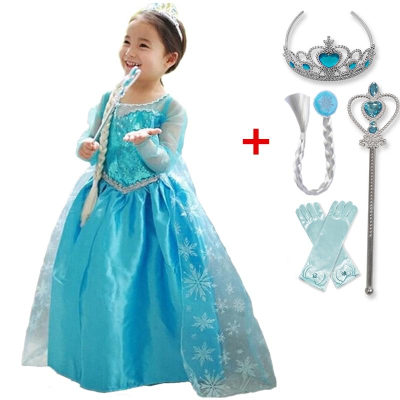 Halloween Cosplay Dress For Girls Princess Costume Christmas Children Dress Up Robe Fille Disfraz 1