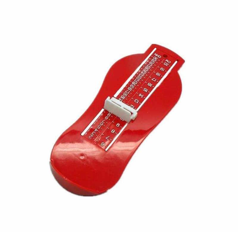 4 colores chico bebé pie medida calibre regla de medición de tamaño de zapatos herramienta ABS bebé rango ajustable de 0-20cm de tamaño