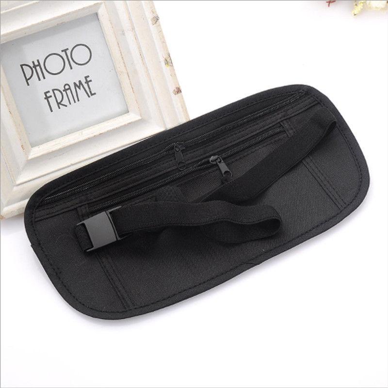 Adjustable Nylon Waist Belt Bag Travel Pouch For Hidden ID Passport Security Money Compact Safety Slim Secret For Men Women