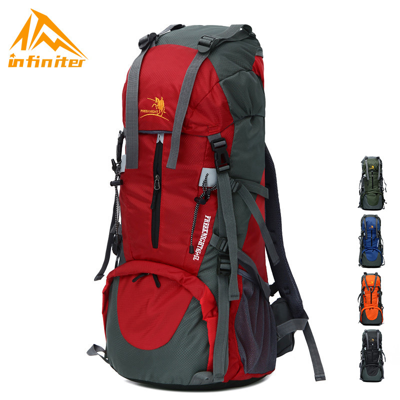 70L Large-Volume Profession Outdoor Mountaineering Bag Waterproof Wear-Resistant Nylon Backpack Multi-functional Sports Travel D