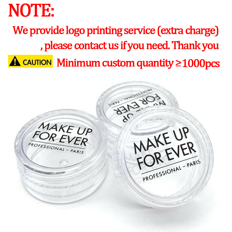 100pcs 2g/3g/5g/10g/15g/20g Empty Plastic Cosmetic Makeup Jar Pots Transparent Sample Bottles Eyeshadow Cream Lip Balm Container-2
