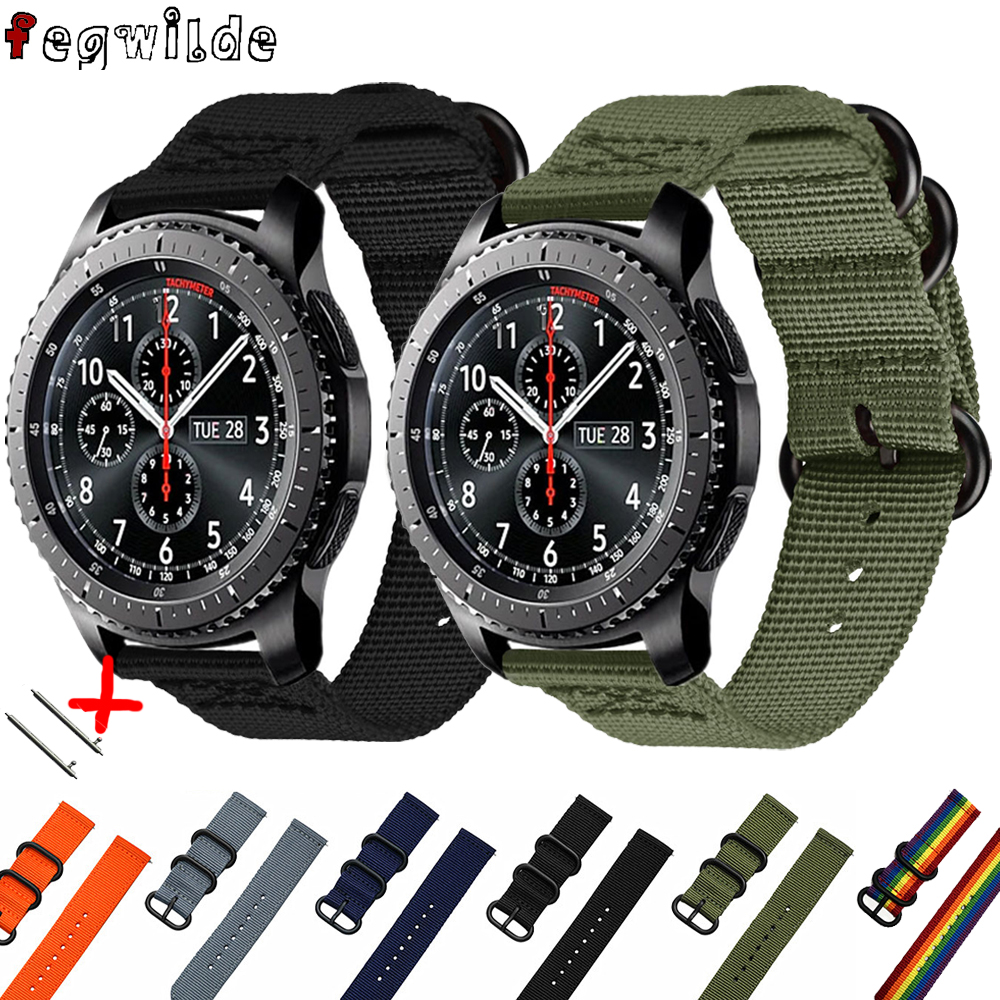 Galaxy Watch 46mm Active 2 Nato Strap For Samsung Gear S3 Frontier 22mm Watch Band Bracelet Wrist Watchband Huawei Watch Gt 2 40