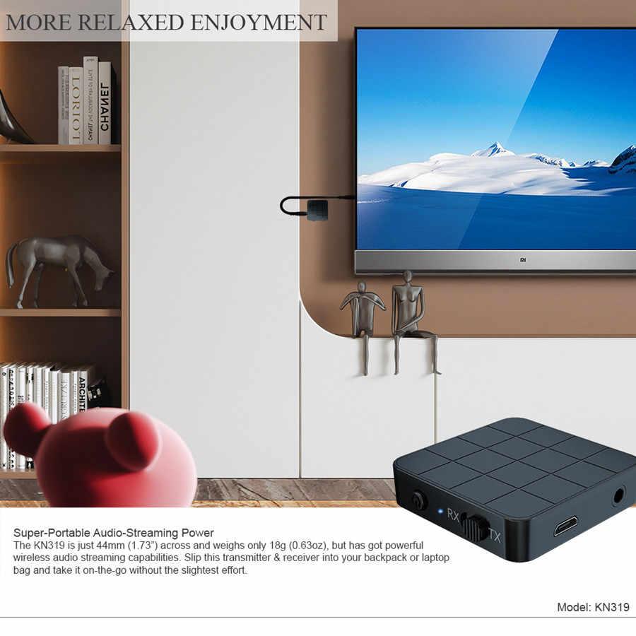Bluetooth 5.0 4.2 オーディオレシーバートランスミッター 2 1 で 3.5 ミリメートル 3.5 AUX ジャック RCA ステレオ音楽ワイヤレスアダプタテレビ PC 車のスピーカー