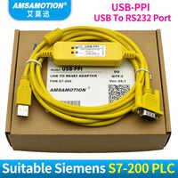 USB-PPI PLC Programmierung Kabel USB zu RS485 Adapter Für Siemens S7-200 PLC USB PPI Download Kabel