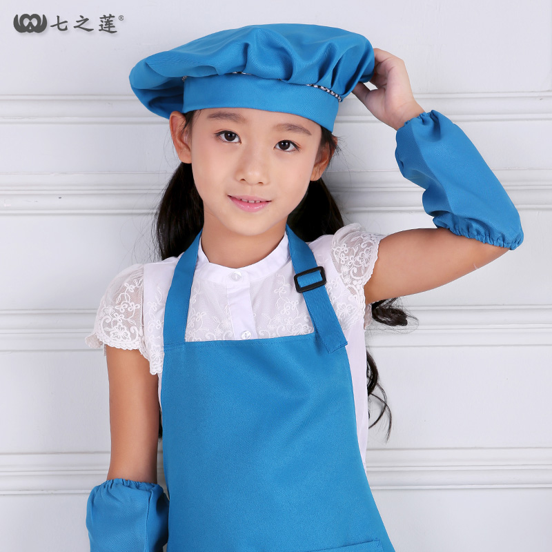Children's Chef Hat Kindergarten Parent-child Baby Hat 88004 Children's Game Activity Baby Hat
