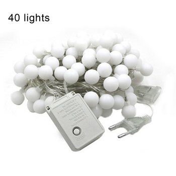EU Plug LED Ball Garland Lights Fairy String Waterproof Outdoor Lamp Christmas Holiday Wedding Party Lights Decoration image