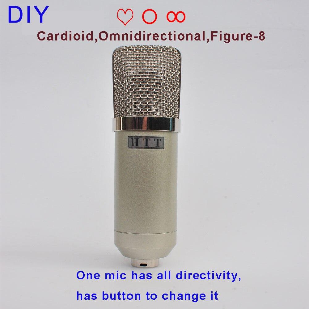 DIY Professional 25mm Capsules Musician Audio Studio Mic Sound Recording Music Record Condenser Microphone