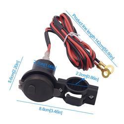 Wyświetlacz LED kierownica motocykla góra ładowarka do telefonu na usb z przełącznikiem woltomierza Motorcyle akcesoria części zamienne w Elektroniczne akcesoria motocyklowe od Samochody i motocykle na