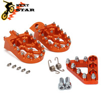 Motocicleta laranja alumínio footpegs para ktm sx sxf exc exc xcf xcw xcfw 65 85 125 150 200 250 300 350 1998-2017