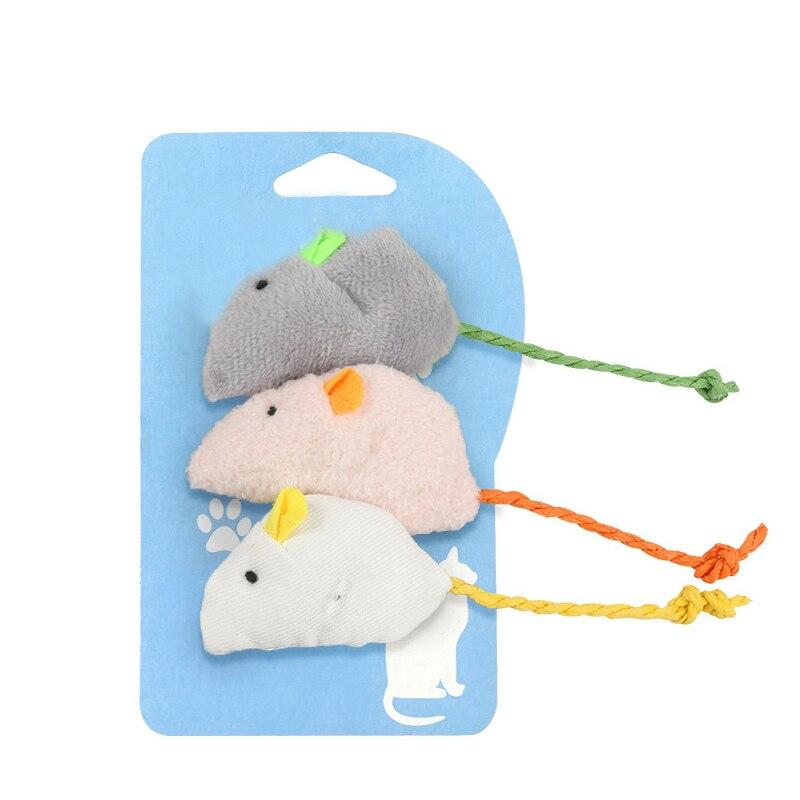 3 шт./компл., плюшевая забавная игрушечная Мышка для кошки, Интерактивная жевательная игрушка, товары для домашних животных
