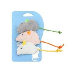 3 Pçs/set Plush Bonito Rato Engraçado Simulação Rato Gato Brinquedo Interativo Brinquedos da Mastigação Pet Fornecimentos