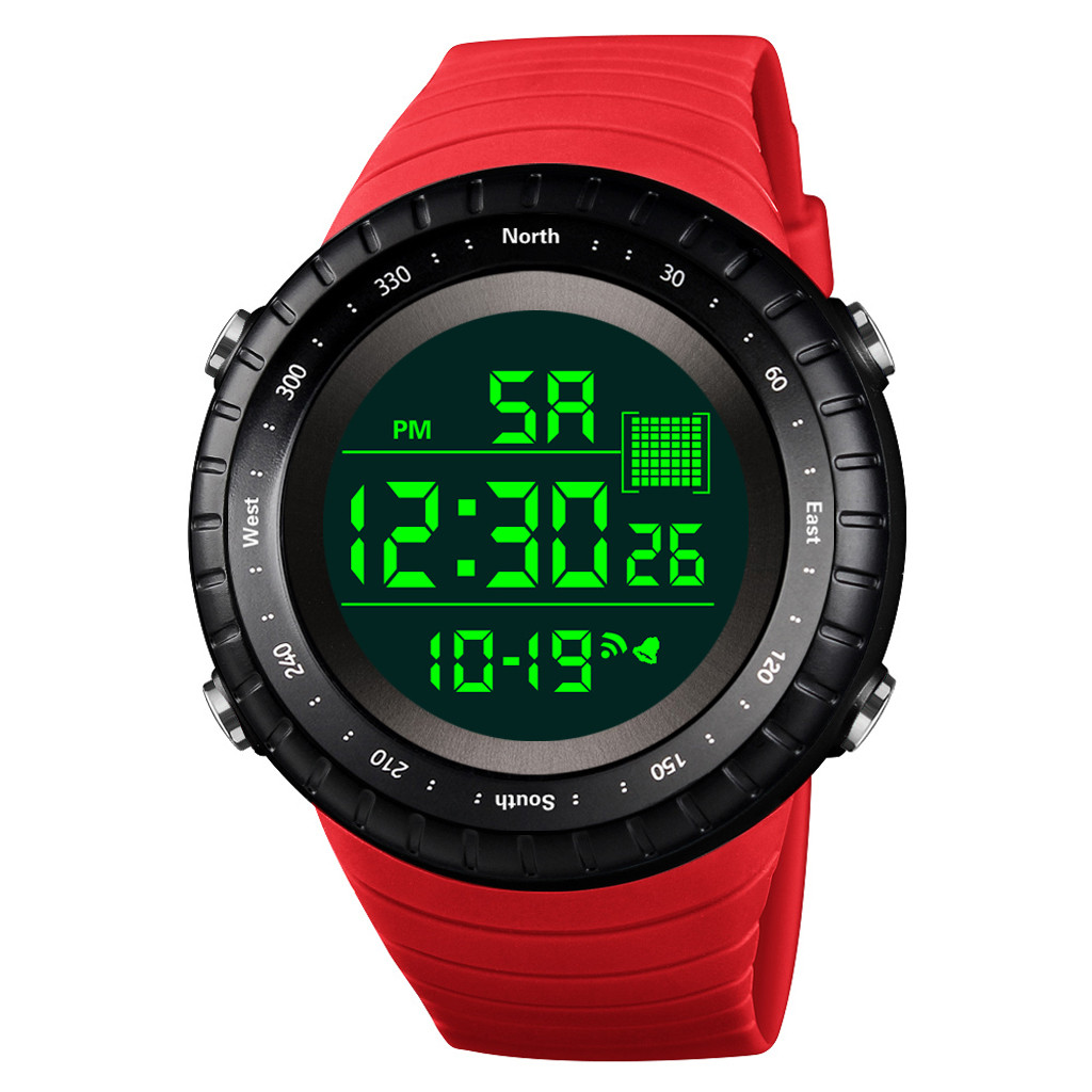 Electronic Watches Digital Outdoor Sport Women Mens Fashion Date Black Casual Montre