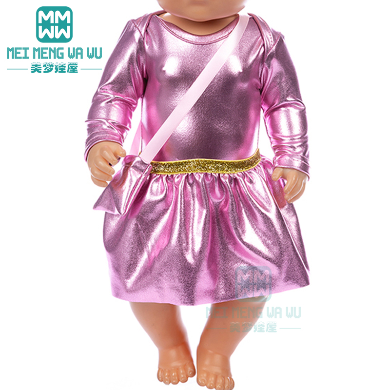 Doll Clothes Sequined Princess Dress For 43 Cm Toy New Born Doll Baby 18 Inch American Doll Our Generation