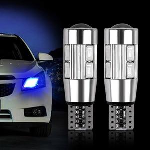 2PCS T10 No Error LED Light Car Auto LED Canbus 194 W5W 10 SMD 5630 LED Light Bulb Parking Car Styling T10 LED Car Side Light
