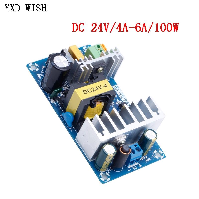 Импульсный блок питания для модуля питания постоянного тока 24 В 4 а 6 А на 110 В переменного тока 220 В модуль импульсного источника питания фото...