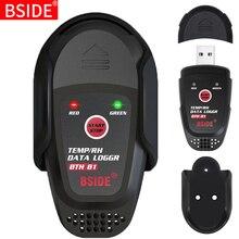 BSIDE درجة الحرارة مسجل بيانات الرطوبة ميزان الحرارة الذكية لسلسلة التبريد تخزين المخدرات ، USB الجيل التلقائي من تقارير PDF