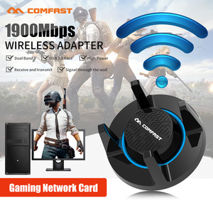 Comfast 1900 Мбит/с Гигабитный беспроводной WiFi адаптер двухдиапазонный 2,4 & 5,8 ГГц Высокая мощность игровая сетевая карта