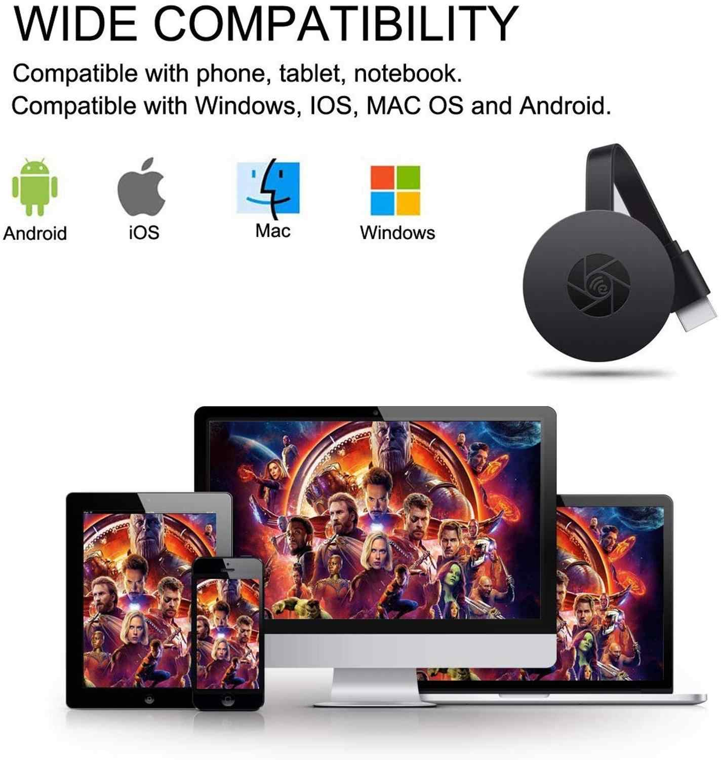 Amkle Mirascreen Tv Stick Hdmi Dongle Anycast Miracast Dlna Airplay Wifi Toon Ontvanger Dongle Ondersteuning Windows Andriod TVSG2A