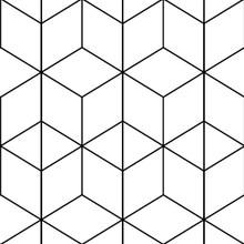 Geometry Peel And Stick Wallpapers White Black Hexagon Trellis Modern Stripe Self Adhesive Wallpaper For Bedroom Home Decorative