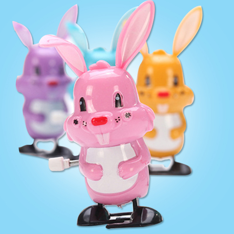 Spring Rabbit Winding Cartoon Cute Biao Qing Tu Children Baby Stall Hot Selling Spring Educational Toy