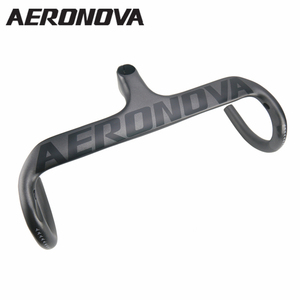 AERONOVA Bicycle Integrated Handlebar Black UD Matte Carbon Road Bike Handlebar For Cycling