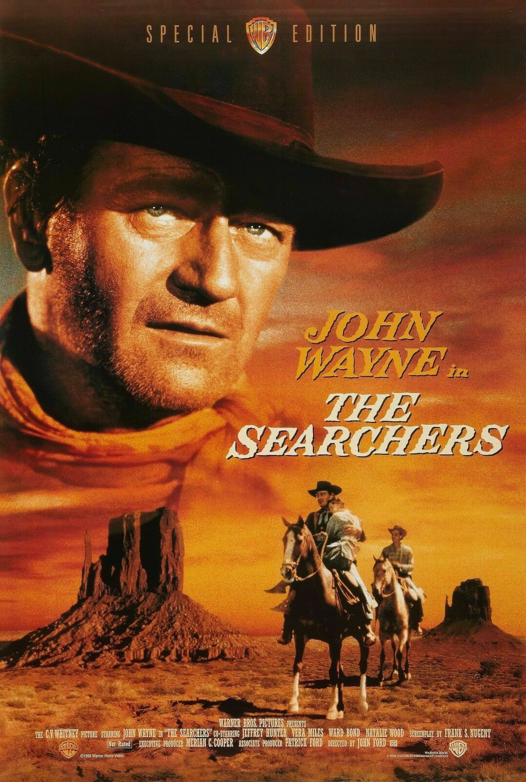 THE SEARCHERS Movie John Wayne Western Art Film Print Silk Poster Home Wall Decor 24x36inch image