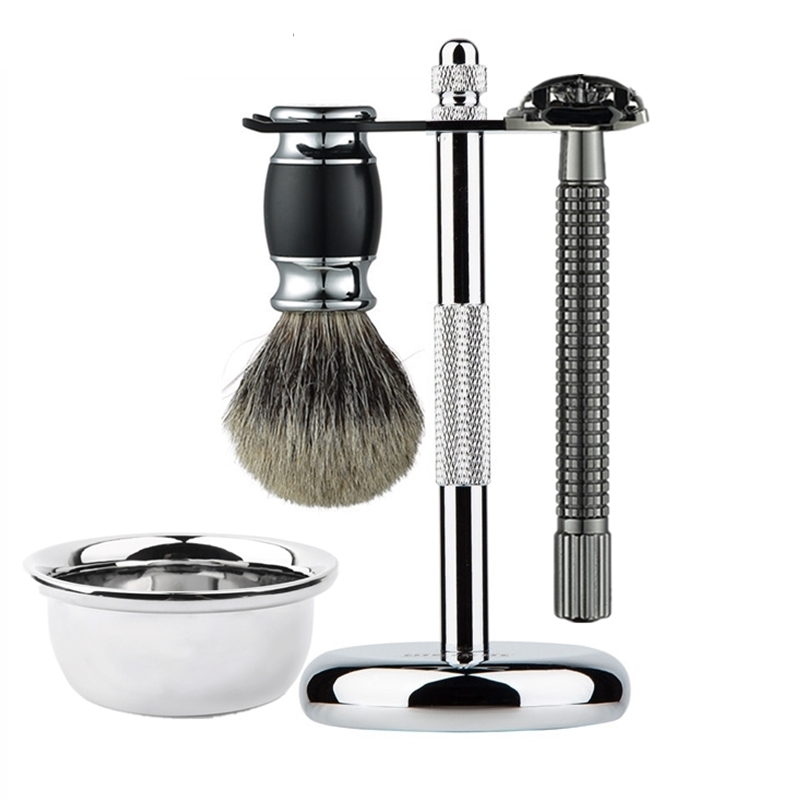 Homens Barba Navalha De Barbear Escova Tigela