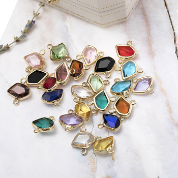 High Quality Fashion 14*12mm Crystal Connector For Handmade Earring And Necklace Jewelry Accessories