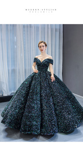 2020 Новое готовое к отправке размер, бальное платье с блестками, платье Quinceanera на 15 лет, бальное платье на выпускной, день рождения