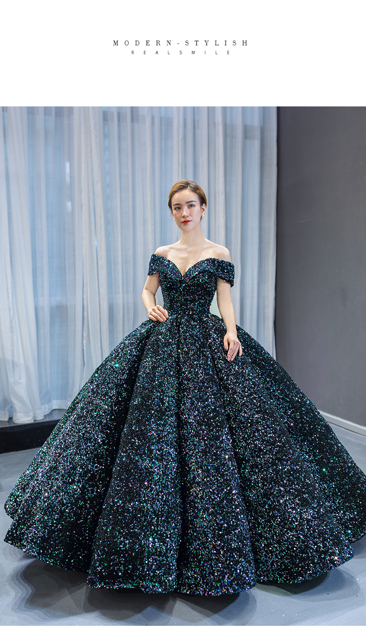 2020 New Ready To Ship Size US2-US14 Sequined Ball Gown Quinceanera Dress 15 Years Formal Prom Dance Birthyday