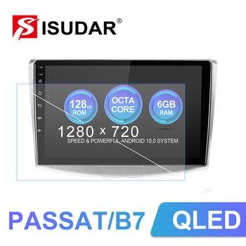 Isudar V72 4G Android Auto Radio For VW/Volkswagen/Passat B7 CC B6 Car Multimedia GPS 8 Core RAM 4GB ROM 64G Camera DVR No 2Din