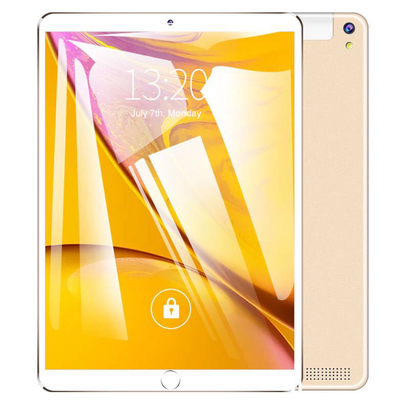 Free Return 10.1 Inch Tablet Pc Quad Core 2019 Android Tablet 4GB RAM 64GB ROM IPS Dual SIM Phone Call Tab Phone Tablets Gold
