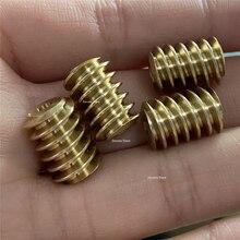 2X 0.7M Copper Turbine Worm 3mm Hole DIY 5840/4058 gear motor