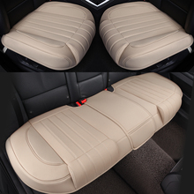 3D PU Leather Car Seat Covers Auto Seat Cushion Mat Breathable Car Front Rear Back Seat Cover Universal Car Accessories