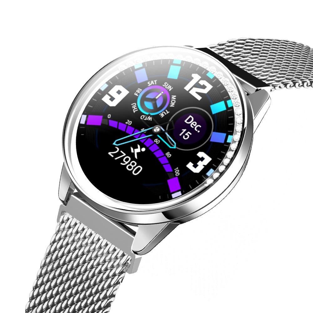 LEMFO Women Smart Watch HRV 24Hours Continue Heart Rate Detection Blood Pressure Scientific Sleep Waterproof Smartwatch for girl