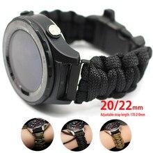 Correa de reloj trenzada ajustable para Samsung Galaxy Watch 3, pulsera deportiva de 41mm y 45mm para Huawei Watch Gt 2, banda de 42mm y 46mm, 20 y 22mm