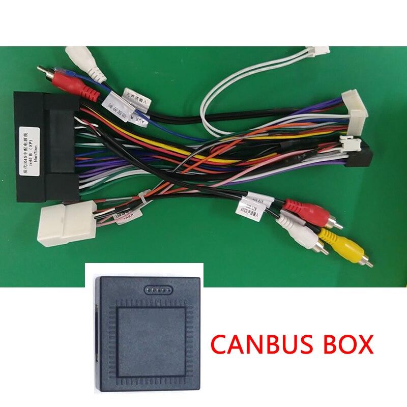 LEEWA Car Audio 16PIN Android Power Cable Adapter With Canbus Box For KIA Cerato/K3/For Hyundai Elantra/Santa Fe/IX45
