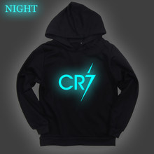 Luminous Cristiano Ronaldo Hoodie for Kids CR7 Hoodies Hip Hop Fashion Kpop Cool Sweatshirts Autumn Sports Pullover Teenagers(China)