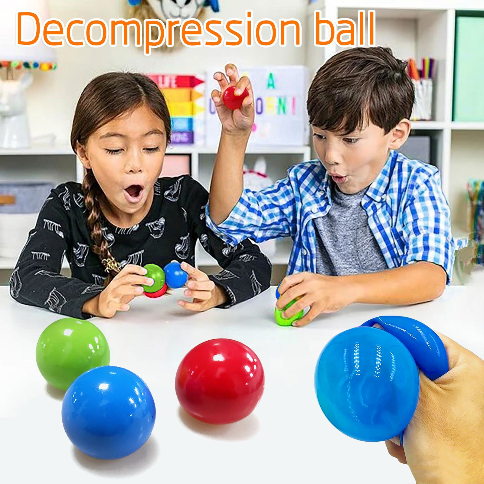 Relief-Toy Tossing-Ball Sticky-Target-Ball-Stress Ceiling Gift Adults Kids Novelty Hot img4