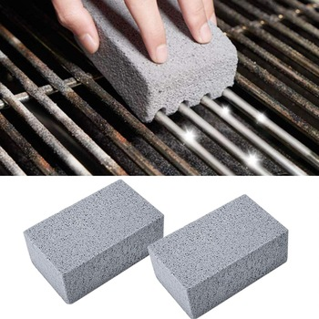2Pcs BBQ Grill Cleaning Brick Block Barbecue Cleaning Stone BBQ Racks Stains Grease Cleaner BBQ Tools Kitchen Decorates Gadgets 1