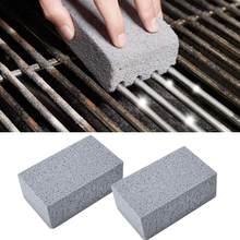 2 sztuk Grill czyszczenie klocek Grill czyszczenie kamienia BBQ stojaki plamy smar Cleaner narzędzia do grillowania kuchnia zdobi gadżety