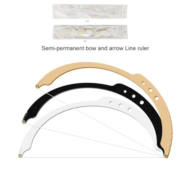 New Microblading Line Marker Ruler With 10pcs Pre-Made Thread Line Eyebrow Design Measure Tool Measuring Ruler