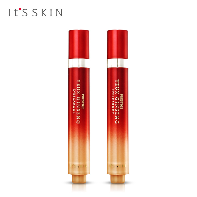 It's Skin Prestige Yeux Ginseng Descargot Eye Serum 15ml*2 Snail Eye Cream Peptide Collagen Serum Eye Care Against Puffiness