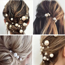 Wedding Bridal Barrette-Clip Hair-Accessories Tiara Simulated-Pearl-Hairpins Design-Tools