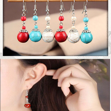 New Earrings for Women Ethnic Europe&America Style Hyperbole Retro Special Fashion Hollowed Leaves Beads Wish Amazon Hot Sale