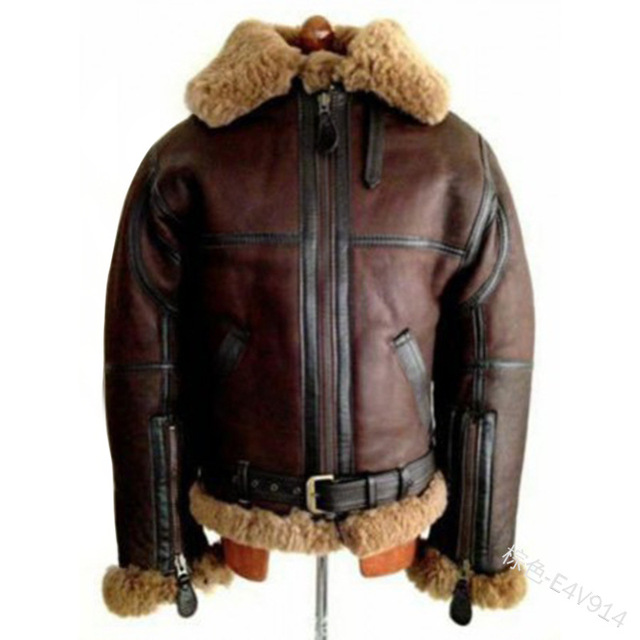 WEPBEL Winter Men's PU Leather Jacket Mens Fleece Fur Collar Motorcycle Jackets Casual Outdoor Thermal Leather Coats 3
