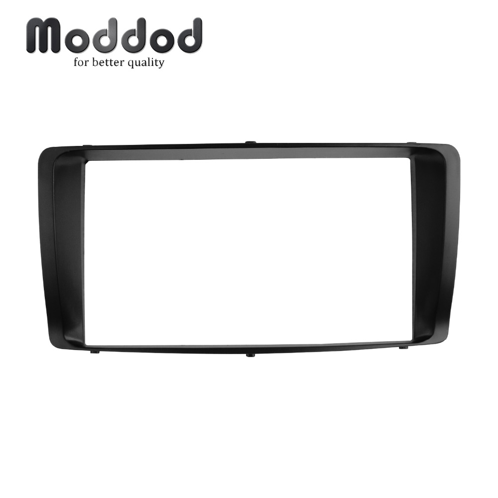 Double Din Radio fascia for Toyota Corolla 2003 2004 2005 2006 Stereo Panel CD DVD Frame Dashboard installation trim kit Bezel image