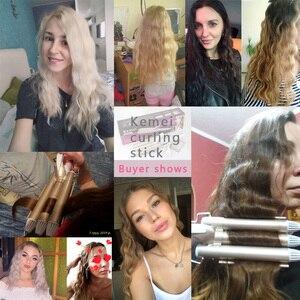 Image 2 - Ondas curling modelador de cabelo profissional cuidados com o cabelo & ferramentas de estilo onda modelador de cabelo curling ferros crimper krultang ferro 5